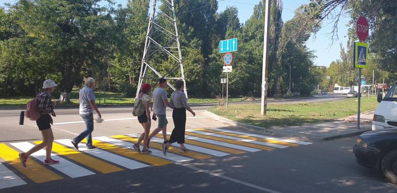 В Севастополе обустраиваются новые пешеходные переходы