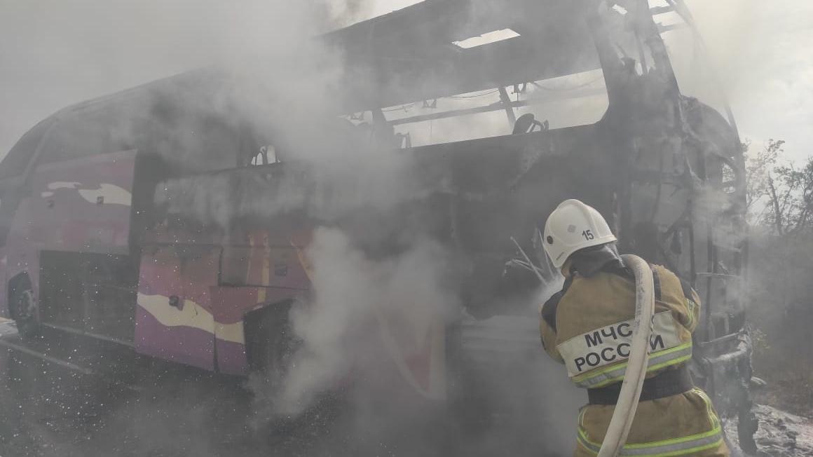Стали известны подробности возгорания пассажирского автобуса на трассе «Таврида»