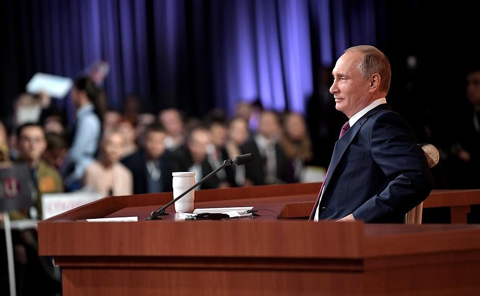 Стало известно, как будет проходить большая пресс-конференция Владимира Путина