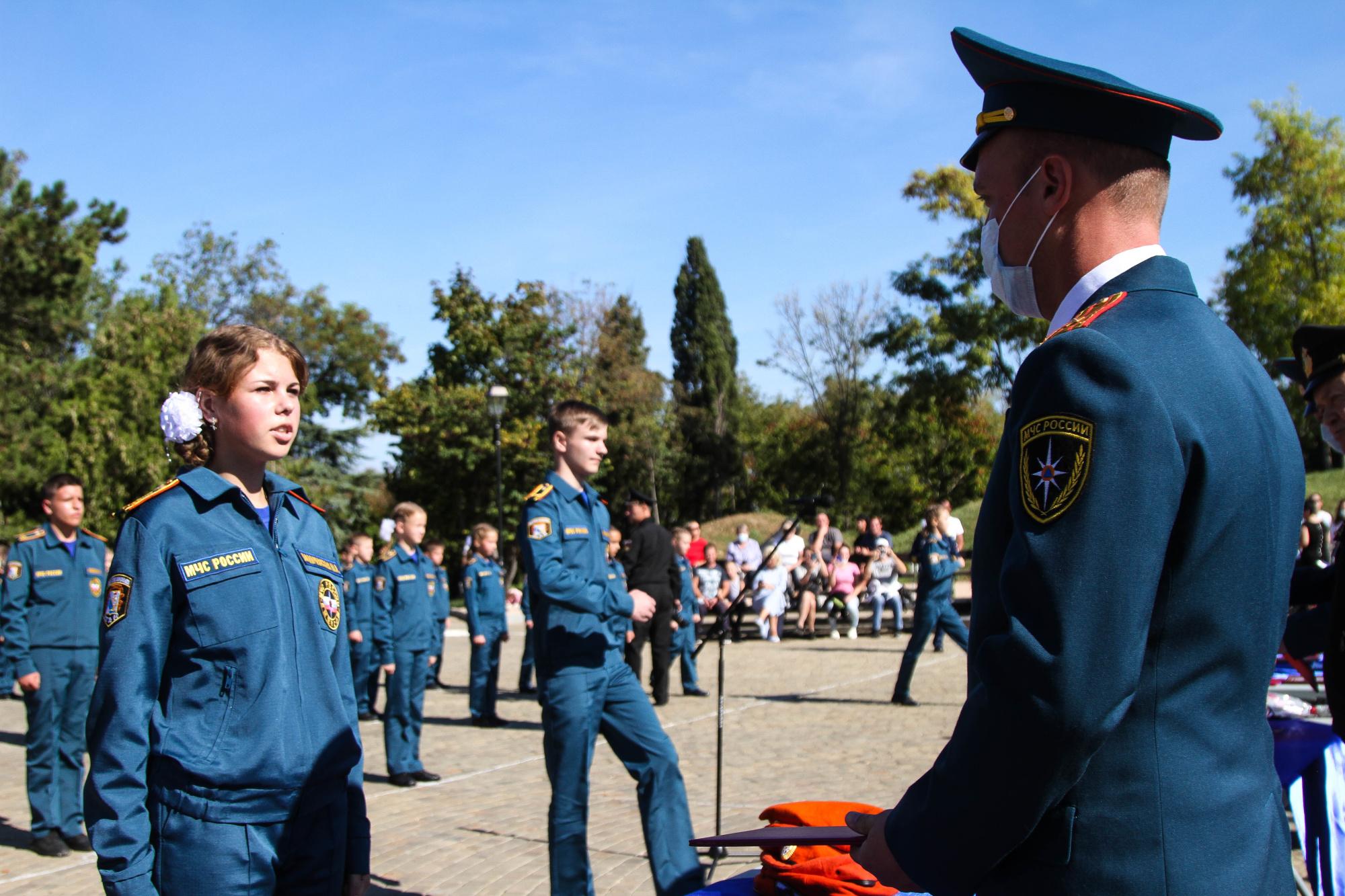 В Севастополе состоялось юбилейное посвящение в кадеты МЧС России