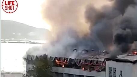 В Ялте загорелся санаторий