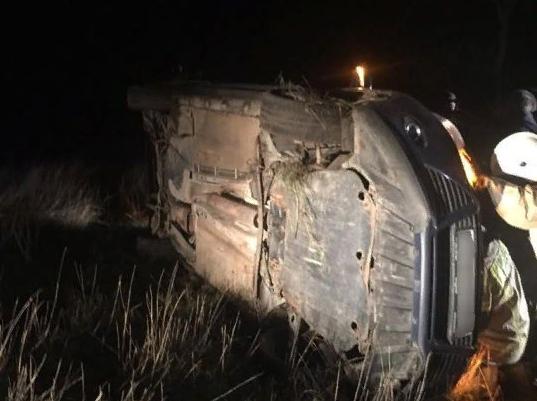 В Крыму автомобиль улетел в кювет