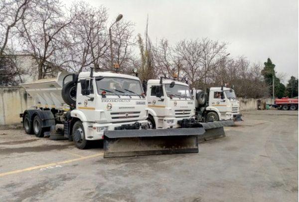 На обработку дорог Севастополя израсходовали почти 40 тонн противогололедной смеси