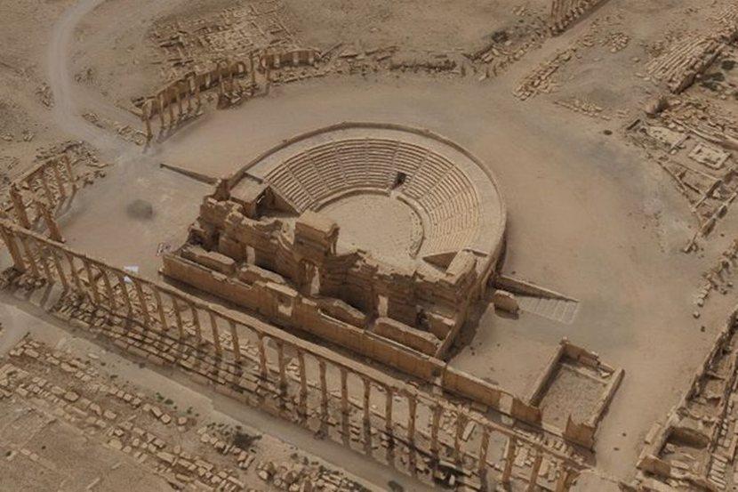Макет древней Пальмиры из СевГУ представлен в Эрмитаже