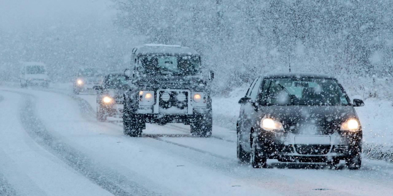 Участок ялтинской трассы перекрыли из-за снегопада
