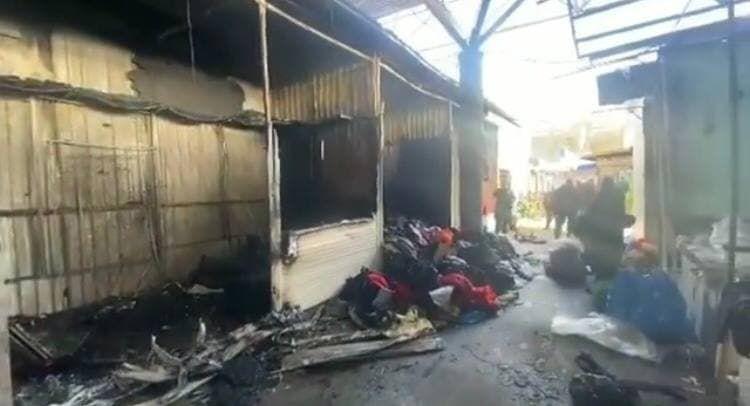 Рынок сгорел минувшей ночью в Крыму