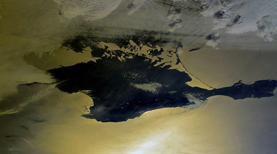 Российский космонавт опубликовал снимки Крыма с орбиты