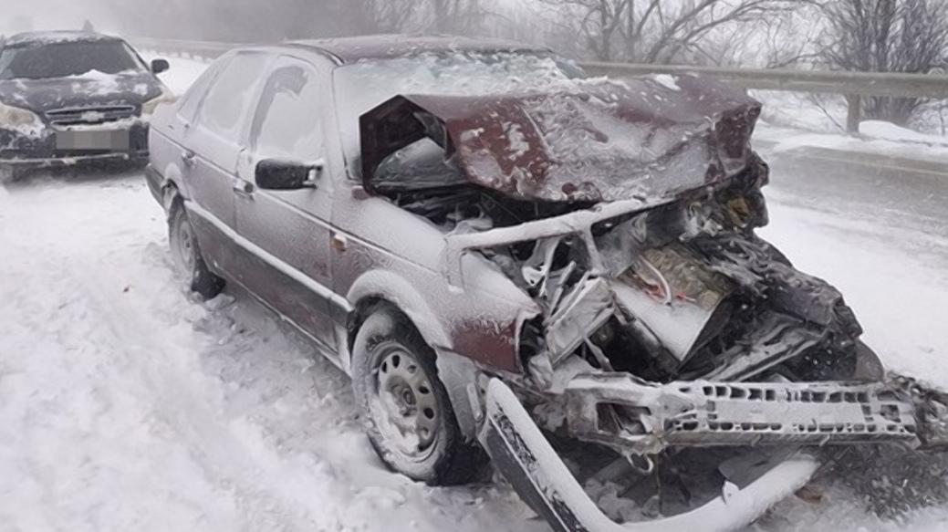 В Крыму произошло массовое ДТП с участием семи автомобилей (фото)