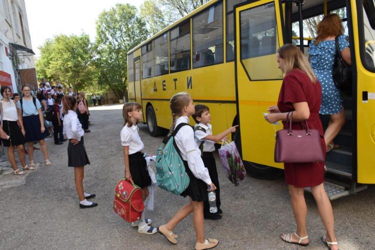В Севастополе увеличили количество автобусов для перевозки детей
