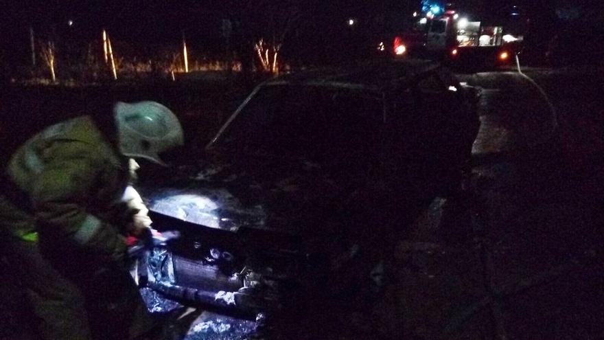 На «Тавриде» сгорел легковой автомобиль