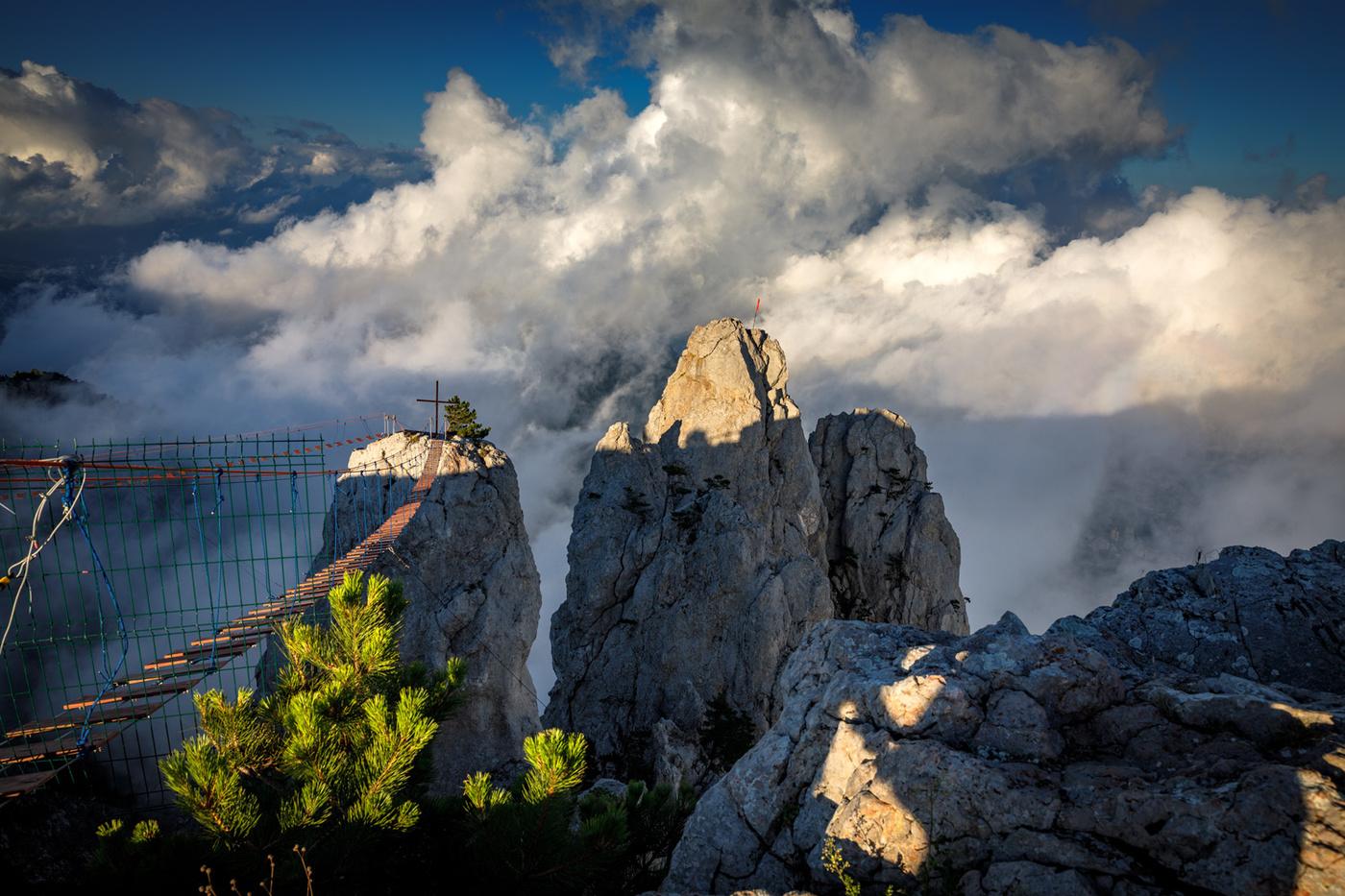 На плато Ай-Петри из-за тумана заблудились туристы