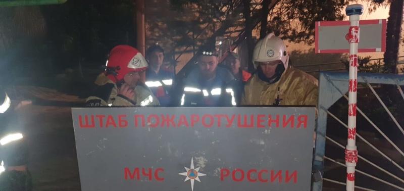 В Крыму на выходных всю ночь тушили крупный пожар (фото)