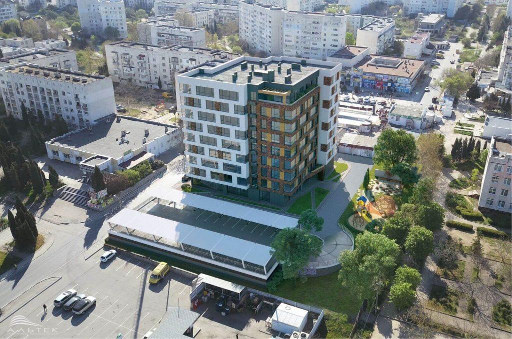 Парковка в Севастополе продолжает плавно превращаться в многоэтажку?