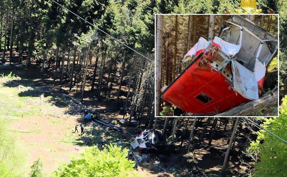 В Италии на высоте сорвалась кабина фуникулера, 13 погибших, тяжело ранены дети
