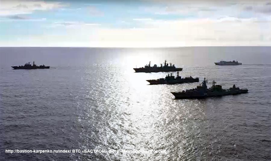 Российская группировка ВМФ проводит учение в Средиземном море
