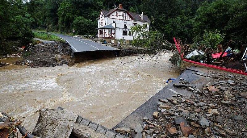 В Германии из-за наводнения пропали 1,3 тыс. человек