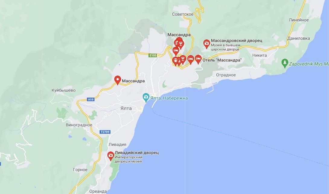 Власти Крыма планирует построить дорогу до Ливадии в обход Ялты