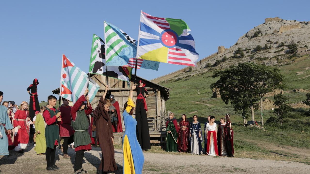 В Судакской крепости проходит фестиваль средневековой культуры