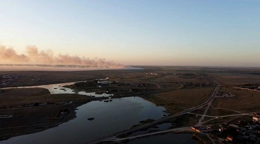Прокуратура начала проверку по факту пожара на полигоне ТКО в Евпатории