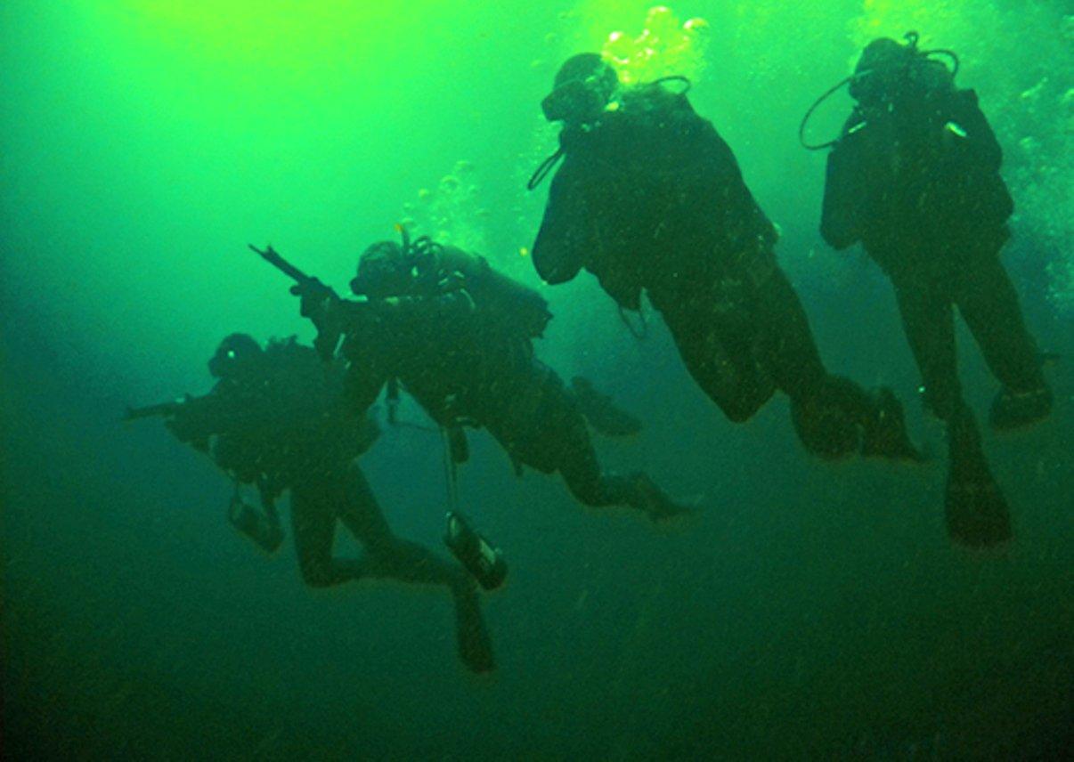 На кораблях ЧФ в Средиземном море учились захватывать подводных диверсантов