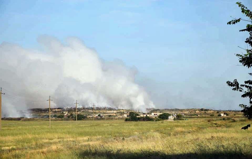 Пожар на мусорном полигоне под Евпаторией ликвидирован