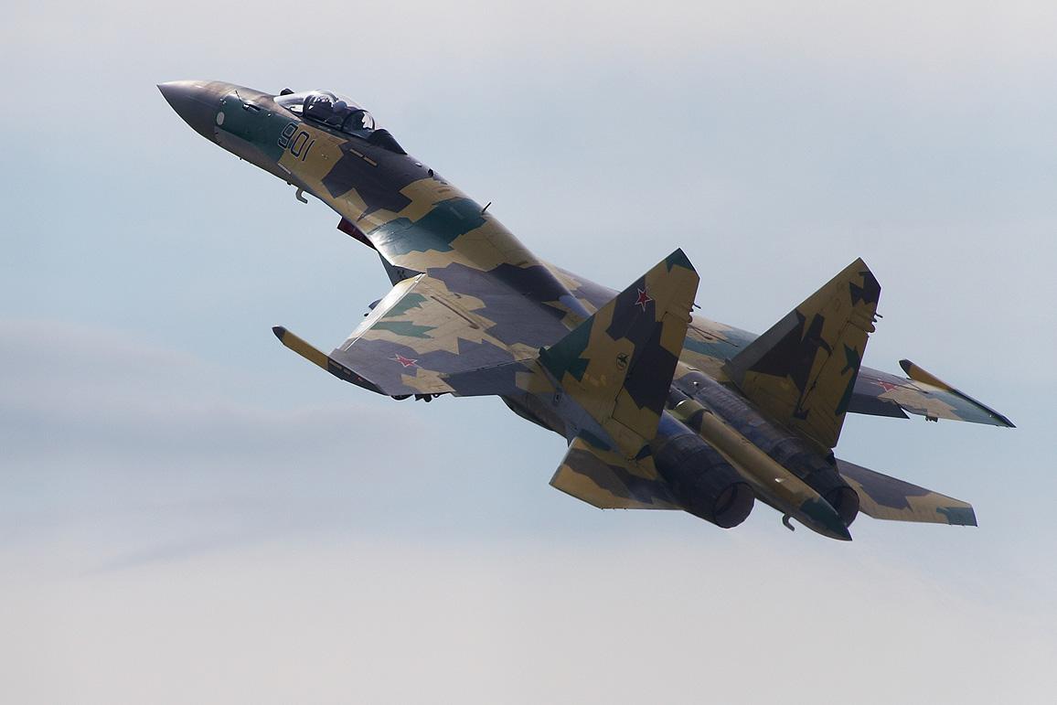 Истребитель Су-35 упал в Охотское море