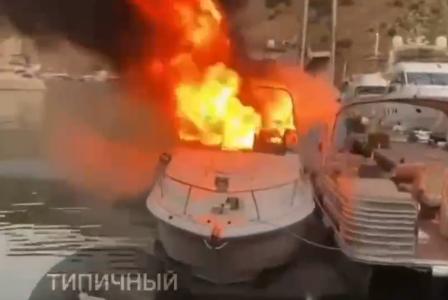 В Балаклаве утром в субботу сгорела яхта (фото)