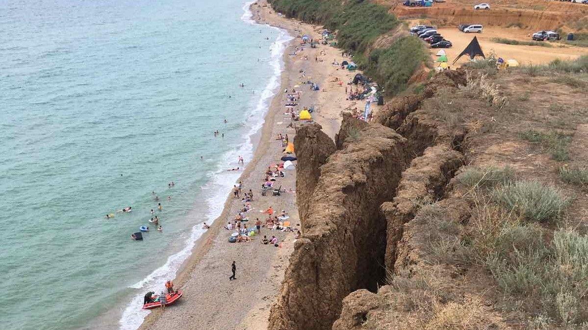 Пляж в Немецкой балке закрыт из-за обрушений