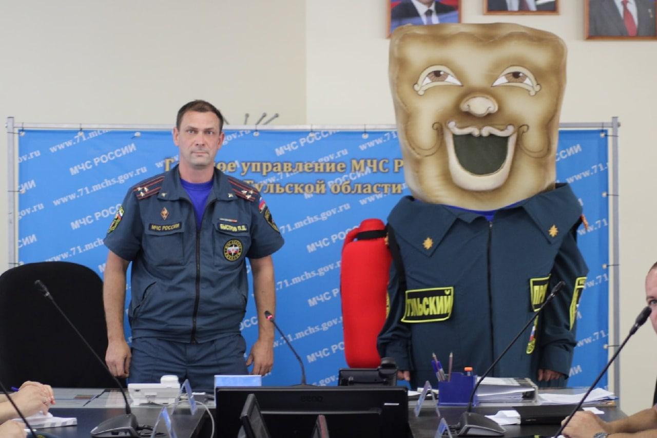 В Туле в ряды спасателей МЧС приняли пряник