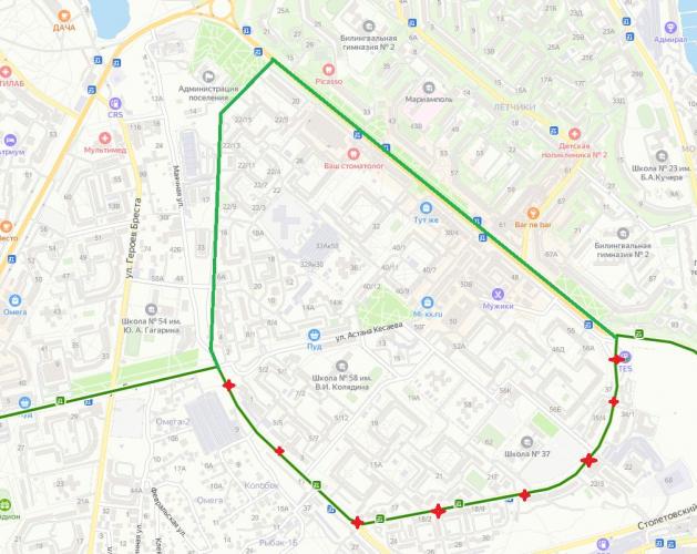 В Севастополе меняется схема движения маршрута № 102