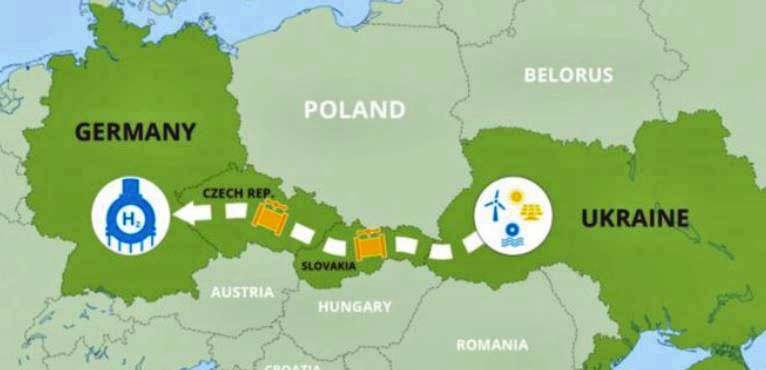 Украина, Германия, Чехия и Словакия намерены проложить водородный коридор