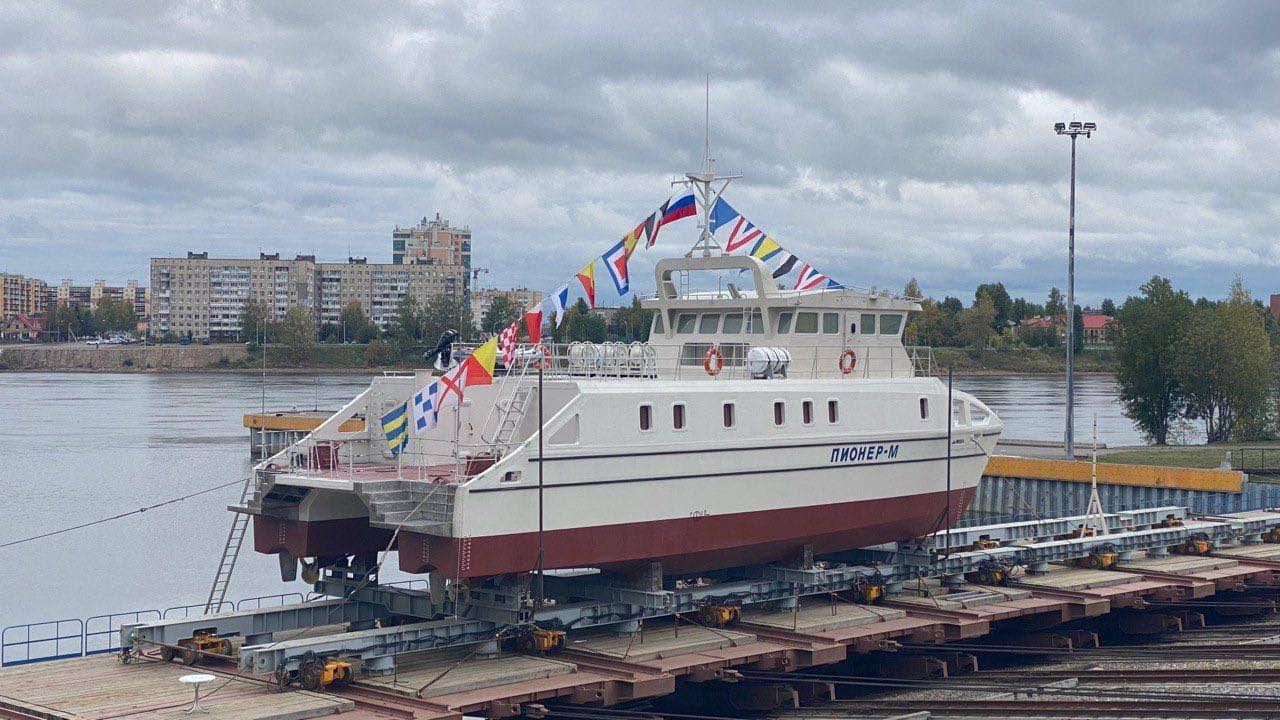 Судно «Пионер-М», спроектированное, в том числе, в СевГУ, спущено на воду в Петербурге
