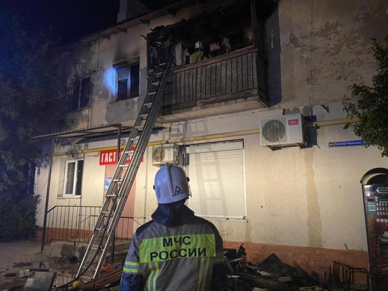 В Джанкое произошел пожар в многоквартирном доме