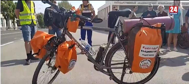 Крымчанин доехал до Владивостока на велосипеде, преодолев 11 тысяч километров